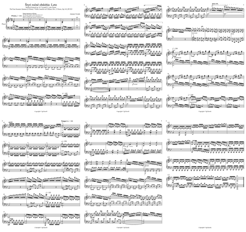 Nothing Else Matters Piano Sheet Music Free Download: Štyri Ročné Obdobia, Leto, The Four Seasons, Summer